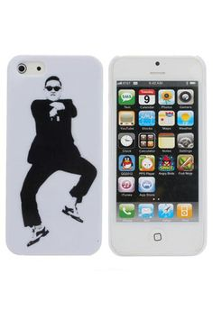 Popular Gangnam Style PSY Pattern Plastic Case For iPhone 5