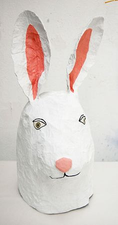 lapin, in papier mache by Elsa Dray Farges