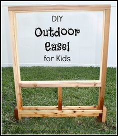 DIY Outdoor Easel for Kids...easy to make and countless possibilities for outdoor play and creativity!