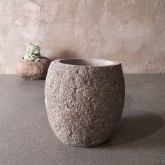 river rock pot