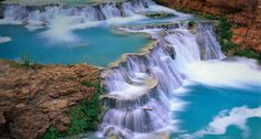 Beaver Falls in the Grand Canyon, Arizona -- Ron Watts