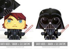 Paper Toy Darth Vader / Anakin Skywalker por Gus Santome