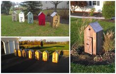 Mini Out Houses with pallets #House, #Outdoor, #Pallet, #Recycled