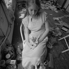 F. Woodman in her studio, 1976