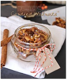 Pumpkin Spice Candied Walnuts on MyRecipeMagic.com #walnuts #pumpkin #spice #candied #holidays #giftideas