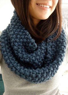 cozy chunky knit cowl