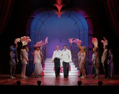 "George Hamilton, Christopher Sieber and the Company of ""La Cage Aux Folles"" © Paul Kolnik  #LaCage@SegerstromCenter"