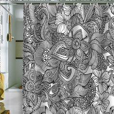 "Valentina Ramos ""Doodles"" Shower Curtain"