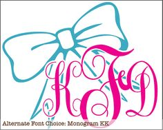 But in my monogram KQM and Any font and these colors are pretty but something that would go good with my red car.