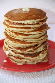 Deep South Dish: Homemade Buttermilk Pancakes  made these for breakfast and everyone loved them!