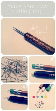 DIY dotting tool for nail art.
