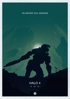 Halo 4 Minimalist Posters by Doaly Doal, via Behance