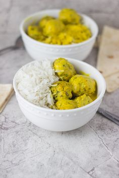 Curry and Spinach Chicken Meatballs