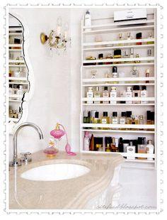 perfume bottle display .♥