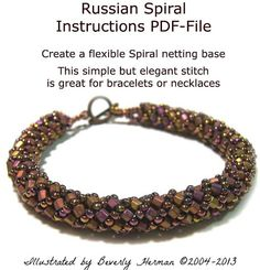 Russian Spiral Bracelet Instructions PDFFile by noeasybeads