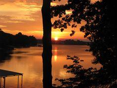 Sunset on Lake Hamilton, AR