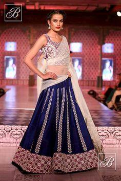 Niki Mahajan velvet lehenga with net dupatta