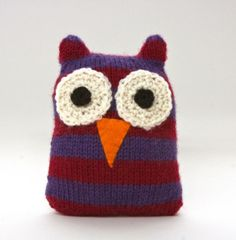 Striped Owl - free via lionbrand.com
