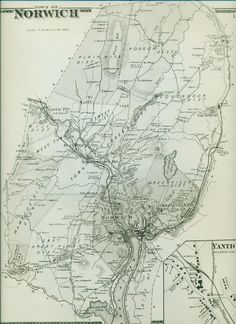 Norwich, CT--map