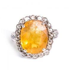 Jade Jagger/ Yellow sapphire, diamond and white gold ring