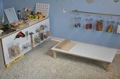 AWESOME toy room...  I especially love the tool area!  definitely doing this next home!!!!