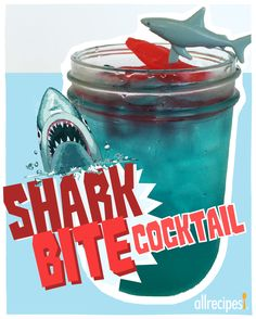 Shark Bite Cocktail | Because you KNOW there's going to be a drinking game.
