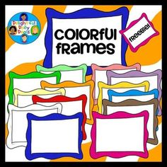 "Free Colorful Frames .... Follow for Free ""too-neat-not-to-keep"" literacy tools  fun teaching stuff :)"
