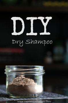 DIY dry shampoo recipe- All natural! #dryshampoo #diy #homemade