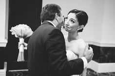 emotional moment between father and daughter at wedding ceremony, photo by Soul Echo Studios in Miami, Florida | via junebugweddings.com
