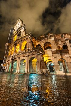 Colosseum at Night - Rome - Italy