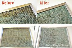 cleaning the greasy stove vent filter 6