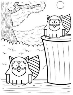 raccoon-coloring-pages