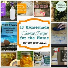 10 Homemade Eco-Friendly Cleaners for the Home via @Don Tequila't Mess with Mama