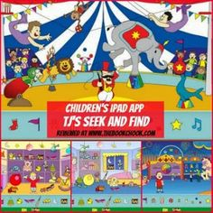 Children's iPad App, TJ's Seek and Find - free puzzle app for kids under 6.