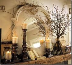 Mantle and mirror