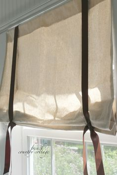 Dropcloth window shades