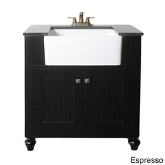 Granite Top 30-inch Farmhouse Apron Style Single-sink Bathroom Vanity