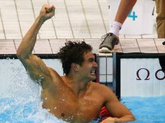 Image Detail for - LONDON - Nathan Adrian of Bremerton, Wash., won the men's 100-meter freestyle by the smallest of margins