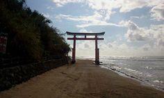 Miyazaki, Japan  Shrine side by sea