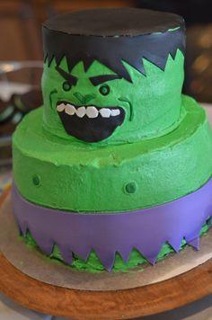 incredible looking cakes | SMASHING DIY Incredible Hulk Birthday Party!