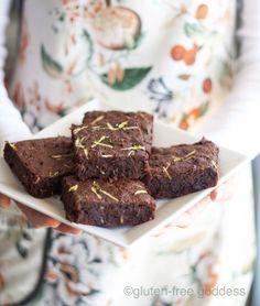 Gluten-Free Chocolate Chip Zucchini Brownies Recipe #glutenfree