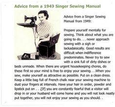 1949 Singer Sewing Manual Advice