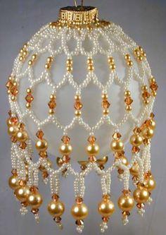 adore ornament, beaded ornaments patterns, bead christma, bead class, beaded christmas ornaments