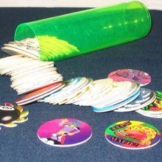 Pogs! My little brother won the neighborhood tournament, he was about 9! We got packets of free pogs and slammers thanks to him! In Orange, Ca sometime in the 90's. -Jackiepins2