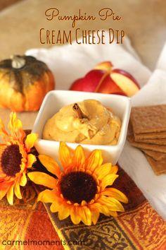 Pumpkin Cream Cheese Dip | Carmel Moments