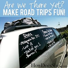 Make Road Trips Fun from HowDoesShe.com #roadtrip #tips #games #activities