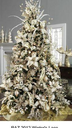 Festive White Tree Decor
