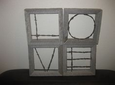 LOVE these barn wood and barbed wire frames from packysproducts on etsy!
