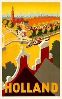 Retro Travel Posters From Holland | The Travel Tester | www.thetraveltester.com