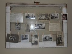 Vintage Window to Display Old Family Photos